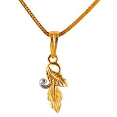 22kt Gold Matte With Glossy Finish Pendant - CB2130