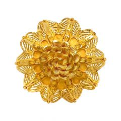 Blossom Textured Floral Gold Ring