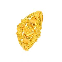 Traditional Embossed Gold Ring