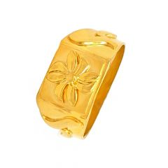 Delicate Embossed Gold Ring For Him