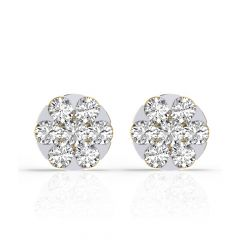 Bling Shimmer Diamond Gold Earrings