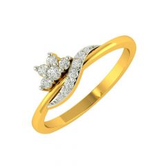 Sparkle Gold Wrap Floral Diamond Ring