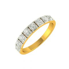 Dazzle Eternity Diamond Gold Band Ring
