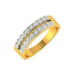 Glistening Eternity Diamond Gold Ring