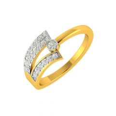 Designer Asymmterical  Diamond Ring