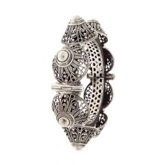 Oxidised Dome Filigree Design Openable Silver Bangle