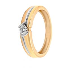 Sparkling Single Diamond Gold Ring