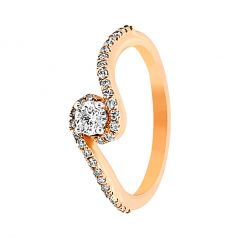 Designer Curvy Diamond Ring