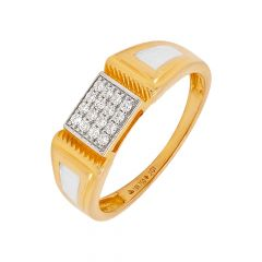 Sparkling Cluster Diamond Gold Ring For Him