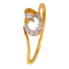 18kt Gold Drop Diamond Ring - DFR371