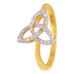 18kt Gold Mother Baby Diamond Ring - DFR579