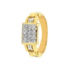 Sparkling Pave Set Band Design Diamond Ring