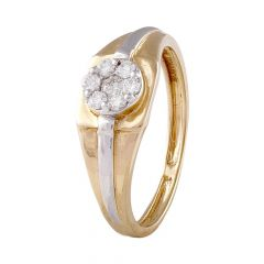 Pressure Set Cluster Glittering Diamond Mens Ring-DGR150801