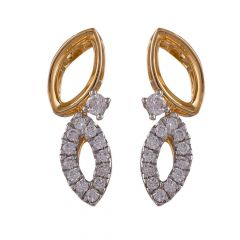 Elegant Marquise Leafy Cluster Diamond Earring-DHS-211591