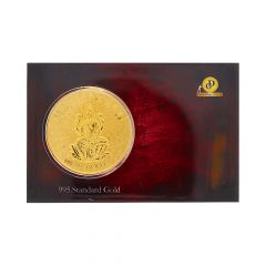 Glossy Finish Lord Laksmi Design Gold Coin