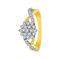 Dazzle Cluster Floral Diamond Ring