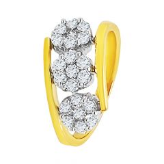 Dazzle Bypass Cluster Diamond Ring