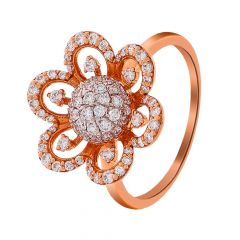 Blooming Cluster Floral Diamond Ring