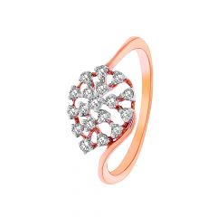 Elite Scattered Dome Diamond Ring