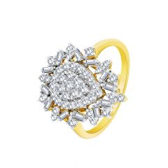 Ravishing Drop Look Diamond Ring