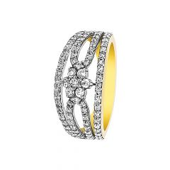 Cluster Floral Diamond Ring