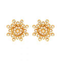 Traditional Floral Diamond Earrings
