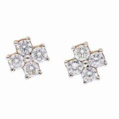 Elegant Prong Set Diamond Studds Earring-DT762