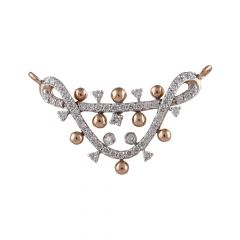 Glossy Gold Bead With Twisted Cluster Diamond Tanmaniya-DTP-150027