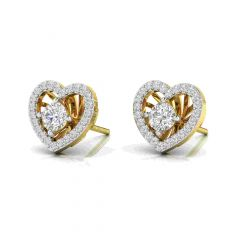 Sparkling Heart Desing Convertible Diamond Earrings