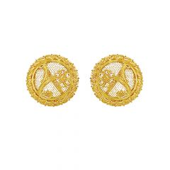 Traditional Filigree Floral Gold Earrings