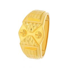Glitz Textured Gold Ring For Him