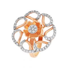Blossoming Floral CZ Diamond Ring