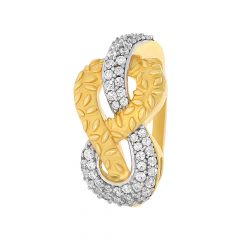 Sparkling Infinity Textured CZ Gold Ring
