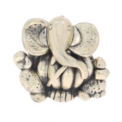 Glossy Finish Modak Lord Ganesha Design Silver Artifact Murti