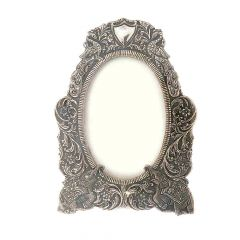 Antique Oxidized Finish Photo Frame Silver Artifact