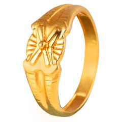 22kt Circle line Gold Ring - FR2136