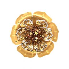 Blossom Floral Cocktail Gold Ring