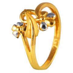 Dual Flower Gold Ring For Women 15-FR6451