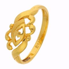 Duel Heart Musical Note Gold Ring - FR9074
