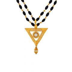 Traditional Trident CZ Gold Manglsutra