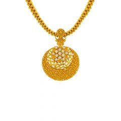 Traditional Textured Cutout Gold Thushi