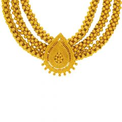 Traditional Filigree Layered Gold Thushi Necklace