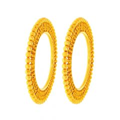 Ceremonial Pacheli Gold Bangle (Set Of Two)
