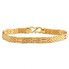 Glossy Finish Flat Links Gold Bracelets  - GBL411