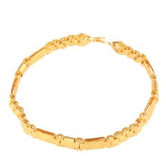 Embossed 22kt Yellow Gold Link Bracelet - GBR2020