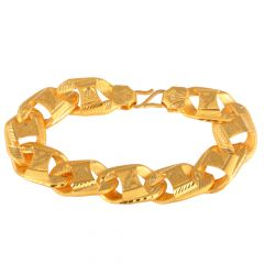 Curb Links 22kt Yellow Gold Bracelet - GBR2037