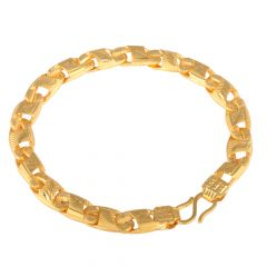 Curb Links 22kt Yellow Gold Bracelet - GBR2039