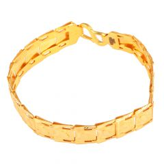 Embossed 22kt Yellow Gold Bracelet - GBR2040