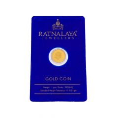 1 Grams 995 Purity Rose Floral Gold Coin-GC41