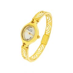 Stylish Textured Cutout Titan Raga Cuff Wirst Gold Watch